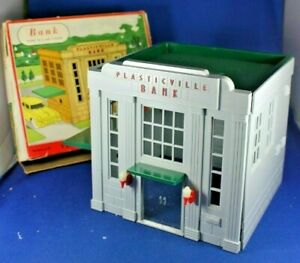 O/S - Plasticville - #1801 - Bank - Damaged - Box - Good Condition