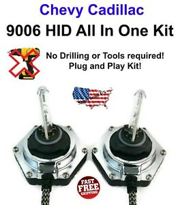 9006 All In One Xenon HID Kit 6000K Fully Integrated Ballast PNP Chevy Cadillac