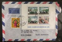 1971 Planegg Germany Souvenir Sheet Front Cover To Clapham Australia Avus Race