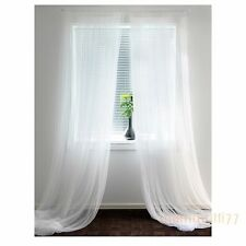"IKEA LILL white long lace curtains 1 pair L 118 "" x W 110 "" / 300 cm x 280 cm"