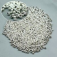 1000Pcs Round Metal Ball Spacer Beads DIY Jewelry Making Findings, 3MM