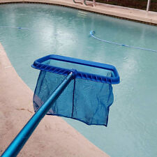 Pool Spa Leaf Skimmer Rake Swimming Cleaning Mesh Net Deep Heavy Duty Scoop New