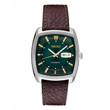 Seiko Men's Recraft Leather Automatic Watch SNKP27