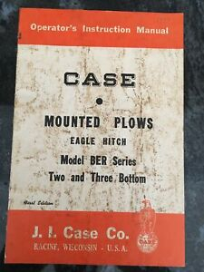 CASE JR & JT Mounted PLOWS OPERATORS INSTRUCTION MANUAL, First Edition Wisconsi