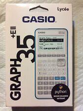 Calculatrice Casio Graph Graphique 35E+II Mode Examen + Menu Python ( neuf )