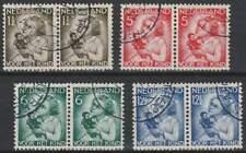Nederland gestempeld 1934 used 270-273 paar - Kinderzegels (04)