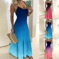 Floral Dress Long Sleeve Maxi V Neck Casual sundress Cocktail Party Women beach