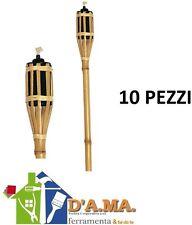 TORCIA BAMBOO LAMPADA LANTERNA OLIO CITRONELLA 10 PEZZI ALTEZZA 120CM
