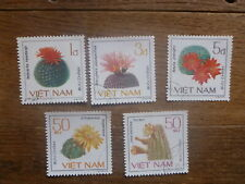 VIETNAM 1985 FLOWERING CACTI 5 DIFFERENT C.T.O. USED STAMPS