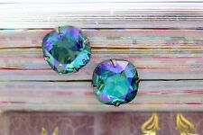 Enchanting Sea of Cortez Blue Swarovski Element Post Stud Earrings 12mm Bridal