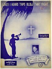 When I Heard Taps Blow That Night Sheet Music R. Wilson - WWII John F. Kennedy