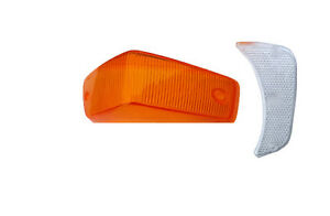 VOLVO 140 TURN SIGNAL LENS kit amber and clear LEFT front 1967-1972