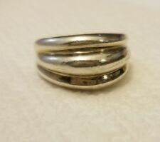 Sterling silver 925 scalloped dome ring