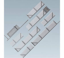FALLER Metal Industrial Fencing Model Kit 1010mm III HO Gauge 180433