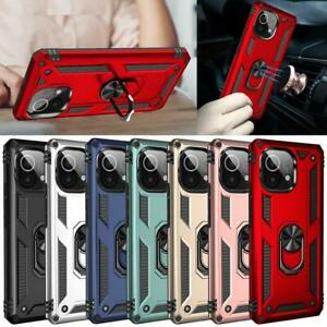 For Xiaomi Mi 11 Lite 5G Case, Ring Armor Slim Shockproof Stand Phone Cover