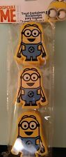 2x Despicable Me Minion Made Easter Eggs Treat Container Favor 3ct Two Eyes