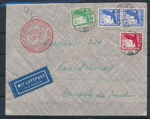 [G65148] Germany 1935 good Very Fine Zeppelin Cover to Las Palmas
