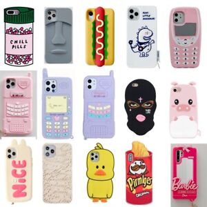 Case For iPhone 12 11 Pro Max X 6 7 8 Plus Cute 3D Cartoon Soft Silicone Cover