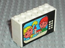 LEGO VINTAGE Bricks with stickers / Set 274  Colour T.V. and chair
