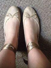 Zara Ballerinas 100% Leather Upper Shoes for Women