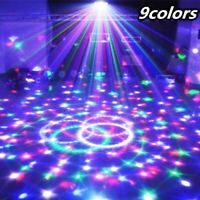 9 Colors 27W Crystal Magic Ball Led Stage Lamp 21 Mode Disco Laser Light Party L