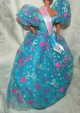 Barbie Happy Birthday Blue Pink Party Gown Dress Fashion For Doll