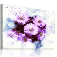 PAINTING PURPLE FLOWERS DRAWING  PRINT CANVAS WALL ART PICTURE  AB26  MATAGA