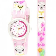 Ravel Llama Design Time Teacher White Dial Kids Girl's Pink Watch R1513.80