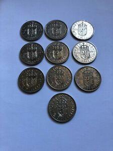 10 x Scottish shillings  1959 good condition