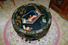 Authentique table asiatique - objet asiatique - table basse et tabouret