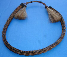 Western Decor Cowboy HAT BAND 5 Strand Braided Horsehair Single Tassel