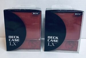 2X BCW Deck Case LX RED MTG CCG Pokemon Protector Storage Box Holds 80 Cards