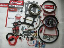 *NEW EDELBROCK PERFORMER RPM HOLLEY 4150 NITROUS PLATE KIT W/EXTRA'S 75-250HP