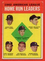 1963 Topps #2 AL Home Run Leaders VG-VGEX+ WRINKLE Roger Maris Colavito