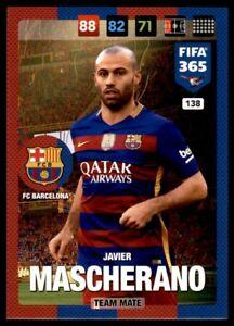Panini 365 Adrenalyn XL 2017 Javier Mascherano FC Barcelona Team Mates No. 138