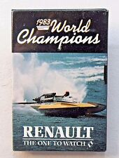 1983 World Champions RENAULT The One to Watch pinback button Hydroplane  z