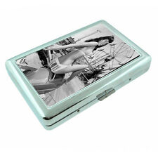 Bad Girl Pin Up D17 Silver Metal Cigarette Case RFID Protection Wallet