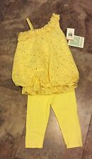 Toddler Girl Boutique Bonnie Jean Yellow Sequin/Eyelet 2-Piece Set- Sz 3T- NWT!