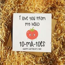 I Love You From My Head To-Ma-Toes - Funny Joke Pun Mothers Day Card