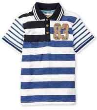 KANZ  Boy's  Embroidered Stripe Knit Polo  Size 6