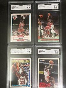 💰💥 Michael Jordan 4x Graded 8.5 1990-93 Card Lot Fleer & Topps 💰💥