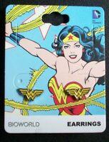 WONDER WOMAN CG4519...ACRYLIC EARRINGS FREE UK P/&P