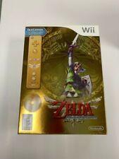 NEW The Legend of Zelda: Skyward Sword Gold Remote Bundle (Nintendo Wii, 2011)