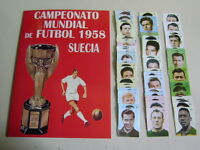 ALBUM WORLD CUP SUECIA 58, CHILE 62 AND ENGLAND 66 - album + set 100% complete