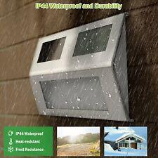 2/6/10 Solar LED Stainless Steel Garden Patio Step Stair Deck Lights Waterproof