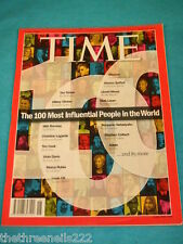 TIME MAGAZINE - THE 100 MOST INFLUENTIAL PEOPLE IN THE WORLD - APRIL 30 2012