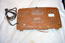 Vintage Zenith Tube Radio Original Back Cover and Line Cord