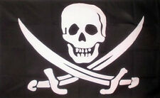 JACK RACKHAM PIRATE FLAG 5' x 3' Captain Calico Skull and Crossbones Jolly Roger