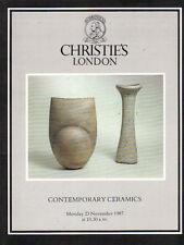 CHRISTIE'S CONTEMPORARY CERAMICS Abuja Cardew Coper Constantidinis Leach Rie Cat