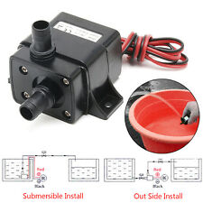 Mini 3M 240L/H DC12V Brushless Motor Submersible Water Pump New